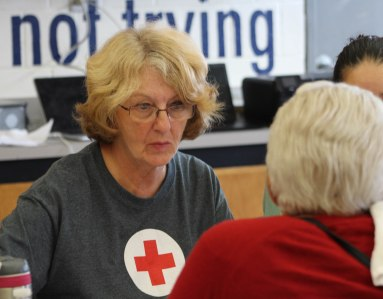 Volunteer staffed a resource center in Lawrence to assist those affected by the Merrimack Valley gas explosions.